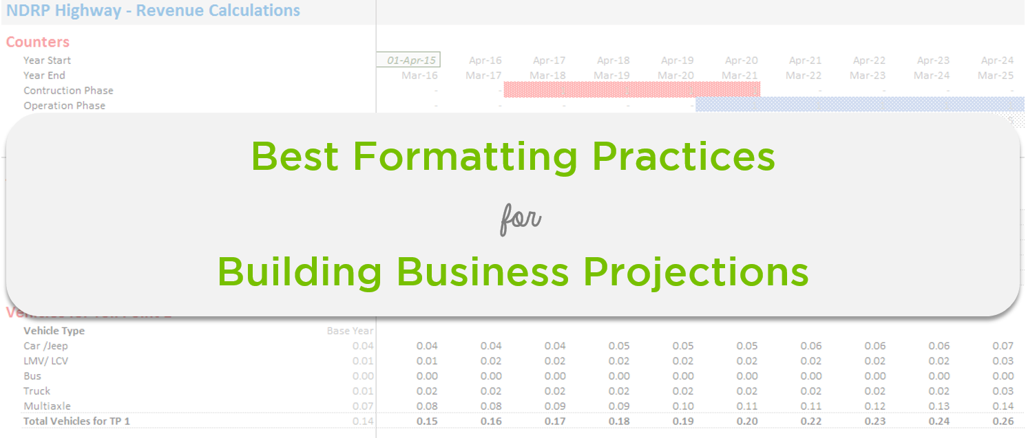 Best Formatting Practises for Business Projections 1