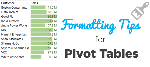 Formatting Tips for Pivot Tables 1