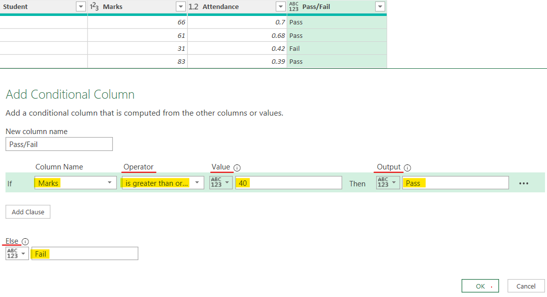 IF Function in Power Query