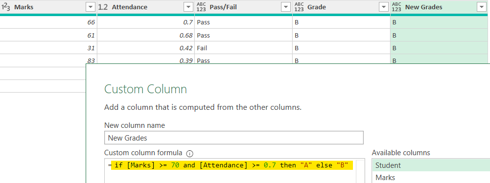 IF in Power Query