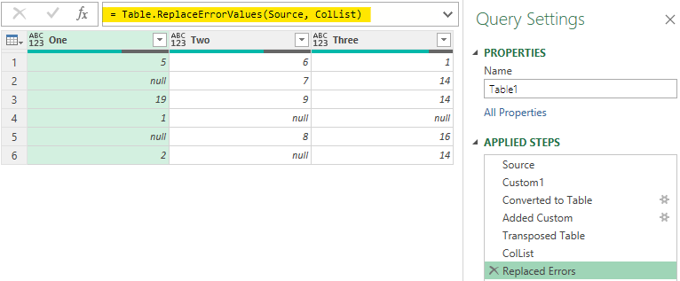 Replace Error Values in Multiple Columns Power Query - Replace Errors Dynamic