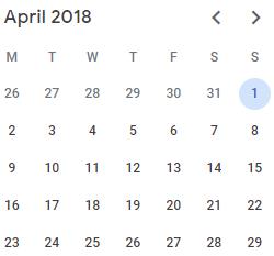 Fiscal Week Calculation in Power BI - Apr 2018 Calendar