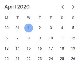 Fiscal Week Calculation in Power BI - Apr 2020 Calendar